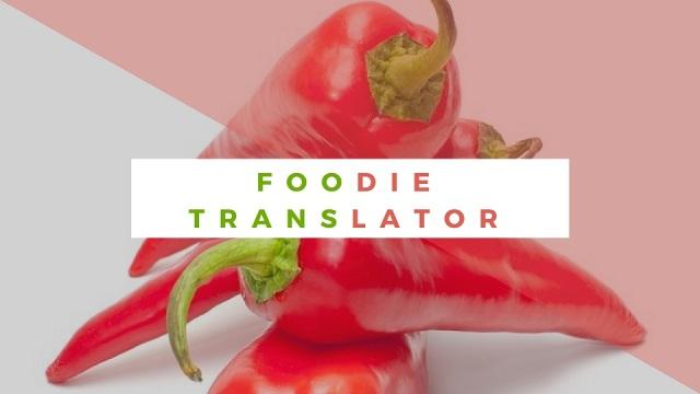 foodie translator