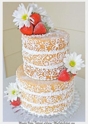 semi-dressed cake