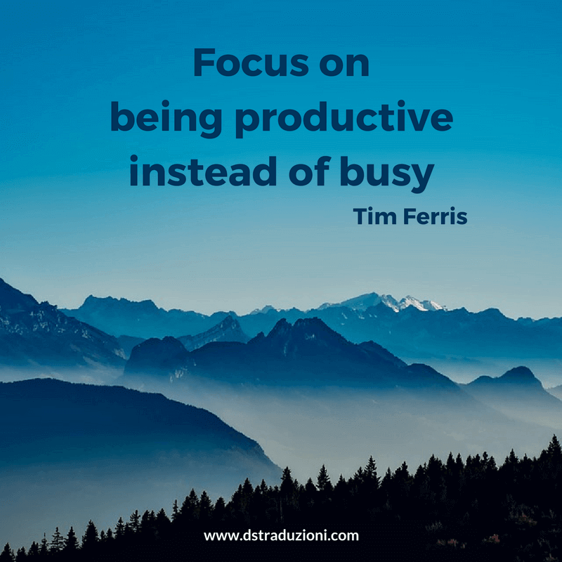 productive vs busy