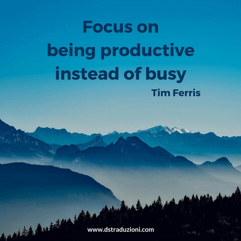 productive vs busy