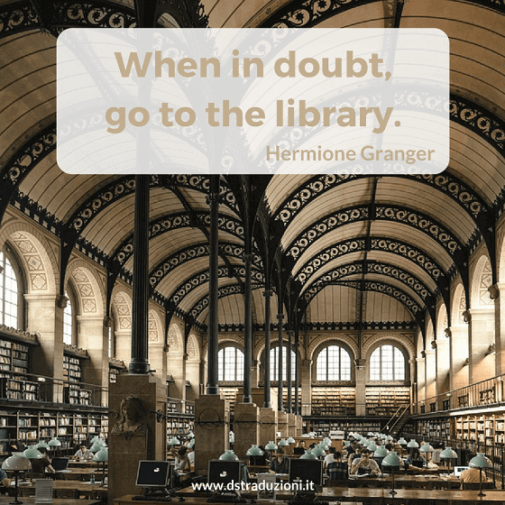 When in doubt, go to the library.