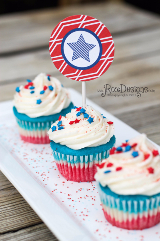 4th-Of-July-Cupcakes