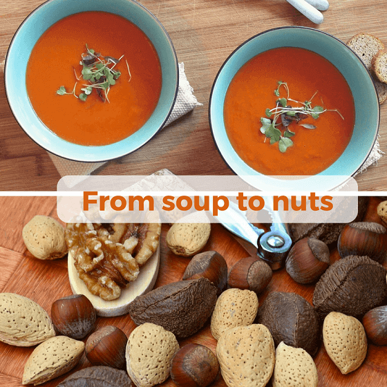 From soup to nuts