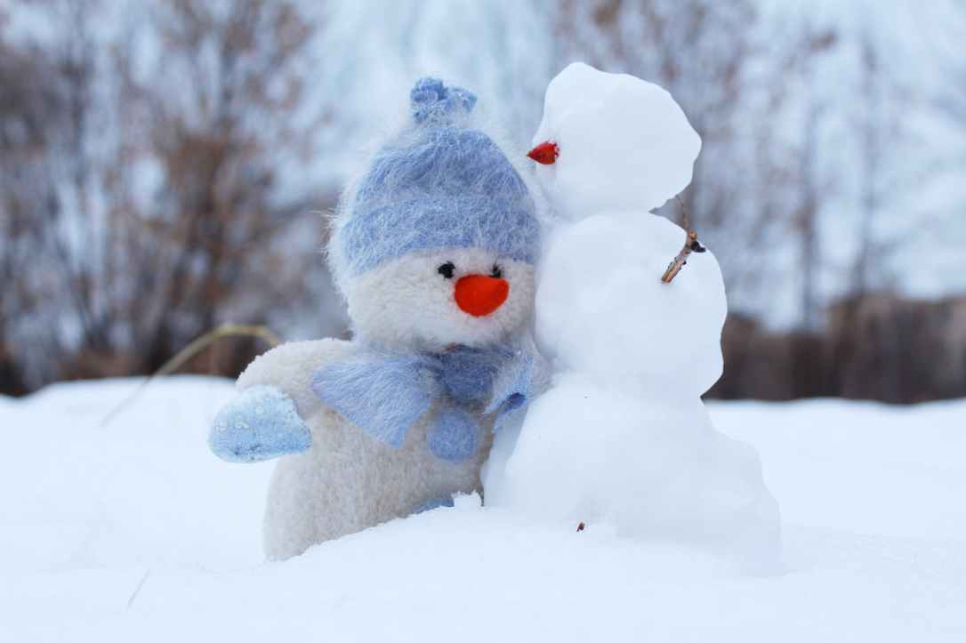 christmas cold friends frosty